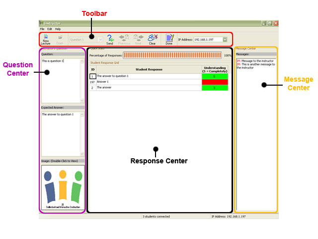 Instructor Application User Interface