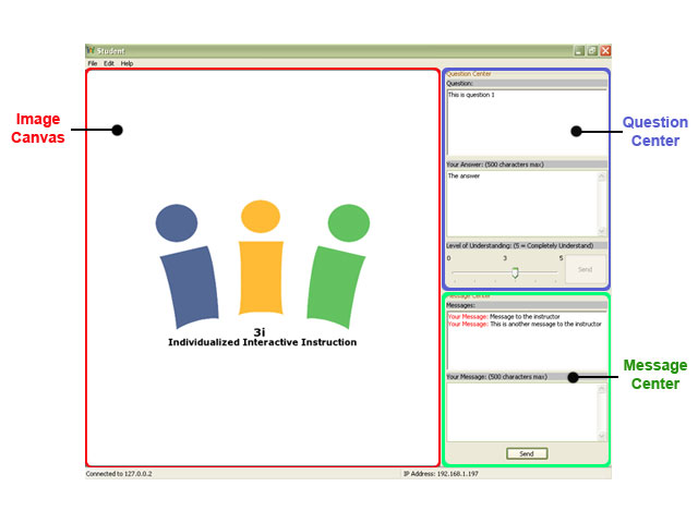 Student Application User Interface